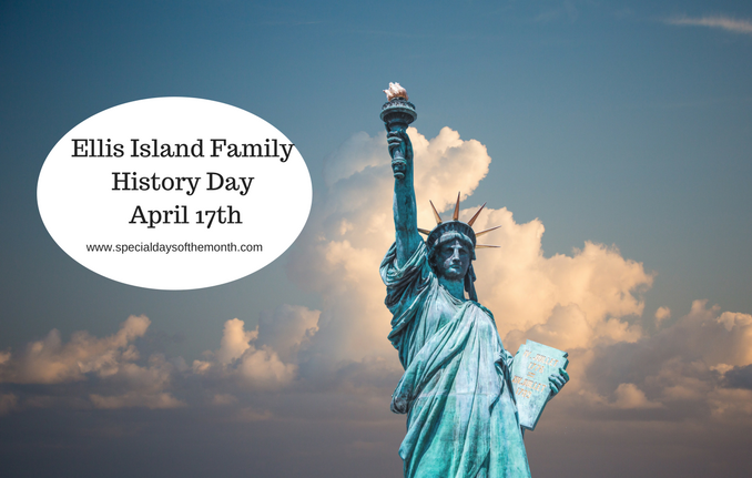 """ellis island family history day - april 17"""