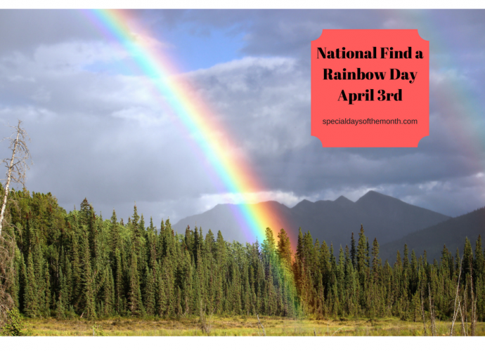 """national find a rainbow day"""