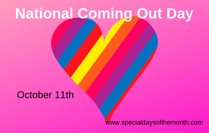 comingoutday - Special Days of the Month